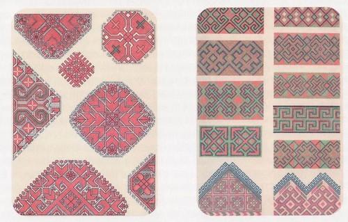 Образцы эрзянского и мокшанского орнамента
