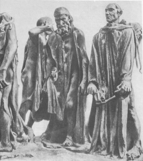 Огюст Роден. Граждане города Кале. Бронза. 1884—1886 (поставлен в 1895 г.)