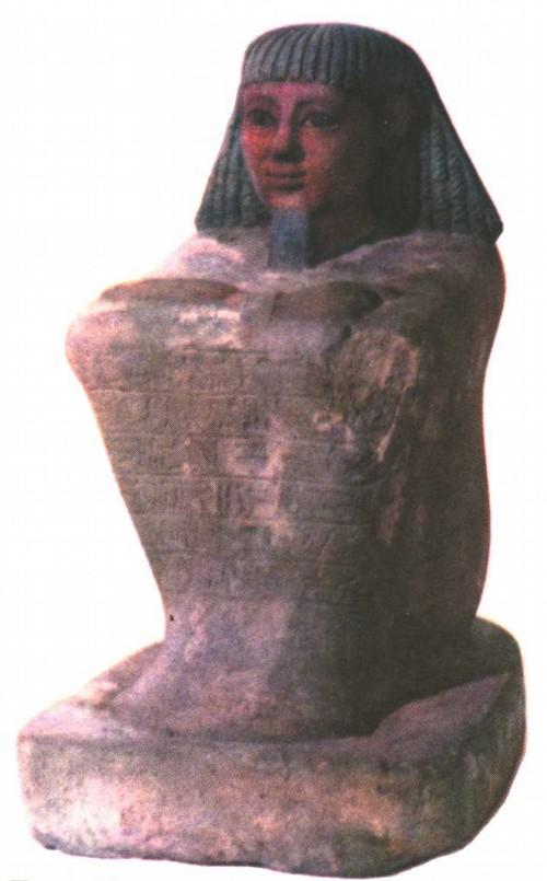 Писец. Мааниимен. Древний Египет. Известняк, роспись. VI век до н.э. Высота 37,5
