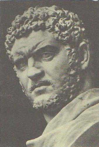 Портрет императора Каракаллы. Мрамор. 211—217 гг. н. э. Неаполь. Археологический музей.