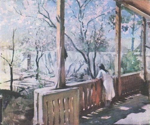 П. Беньков. Весна. Масло. 1943.