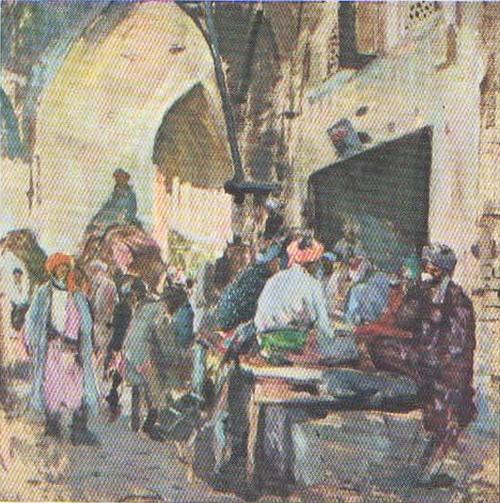 П. Беньков. Старая Бухара. Масло. 1931.