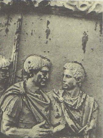Рельеф колонны Траяна. Фрагмент .