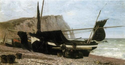 Рыбацкая лодка. Этрета . Нормандия . 1874