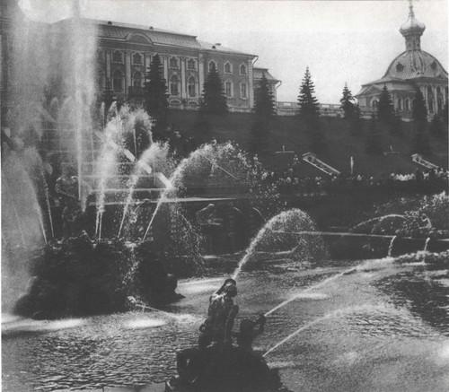 Ф.Б. Растерлли. Большой дворец. 1745-1755 гг. Большой каскад XVIII века