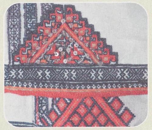 Фрагмент вышивки подолов мокшанских рубах. 30-е гг. XX в. Республика Мордовия, Темниковский район