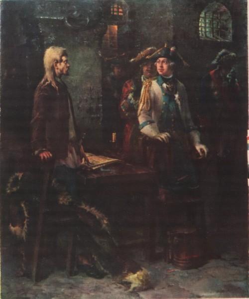 Ф. Буров. Шлиссельбургский узник. Масло. 1885.