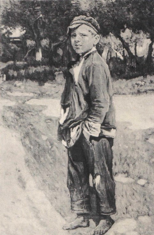 Ф. Нестеров Рядовой. Из серии «Беспризорники». Масло. 1925.