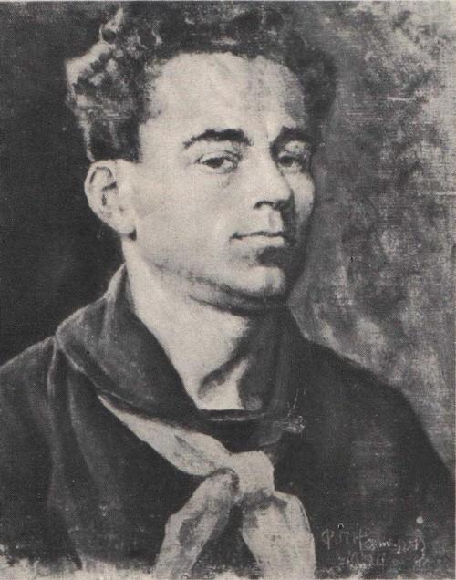 Ф. Нестеров. Пионервожатый. Из серии «Учителя, школьники, пионеры». Масло. 1934.