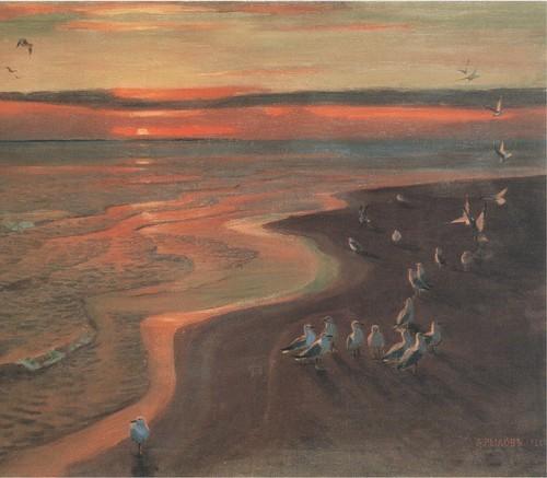 Чайки . Закат. 1922