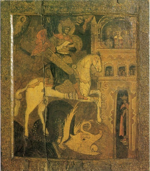 Чудо Георгия о змие. XVI в. Соликамский р-н, д. Чигироб