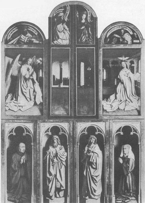 Ян ван Эйк. Гентский алтарь. Общий вид при закрытых створках