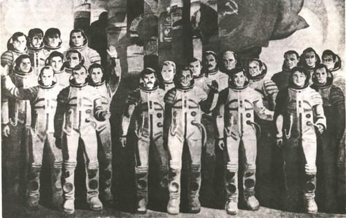 Я. Скрипков.Интеркосмос. Темпера. 1980.