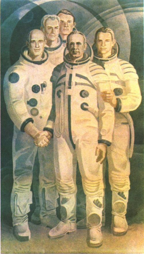 Я. Скрипков. «Союз» — «Аполлон». Картон для мозаики. Темпера. 1977.