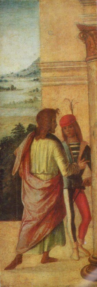 Лоренцо Коста Двое мужчин у колонны