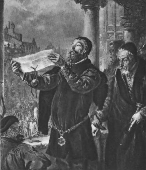 Приговор Матейке. 1867 г. Холст, масло. 56X45. Варшава. Народный музей