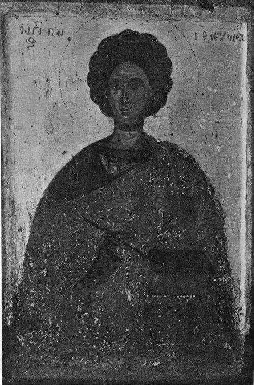 Икона Пантелеймона. Энкаустика
