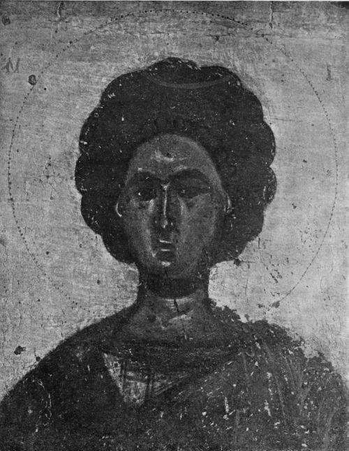 Икона Пантелеймона. Энкаустика. Деталь