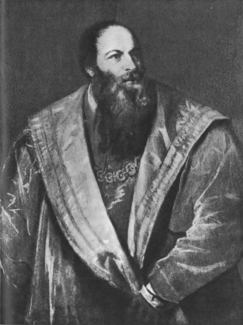 Портрет Пьетро Аретино. 545 г. Холст, масло. 108X76. Флоренция. Галерея Питти
