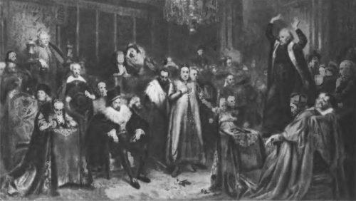 Проповедь Скарги. 1864 г. Холст, масло. 224x391.