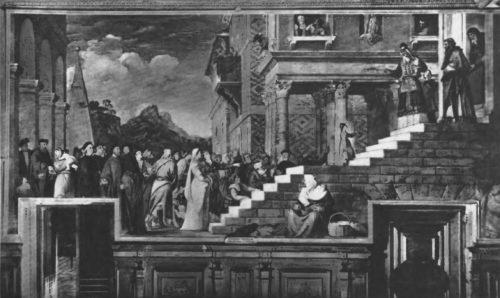Введение в храм. 1534—1538 гг. Холст, масло. 346X795. Венеция.