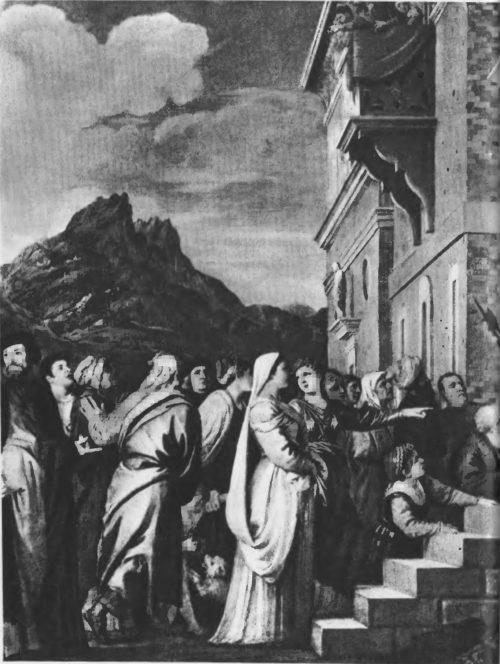 Деталь картины «Введение в храм»