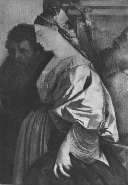 Деталь картины «Мадонна со святыми»
