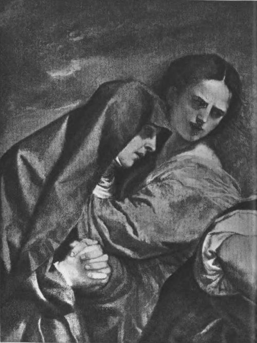 Деталь картины «Положение во гроб»