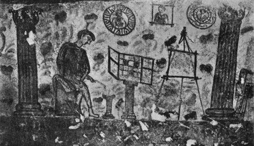 Часть росписи Керкенского саркофага раскопок 1900 г