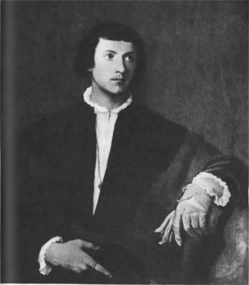 Юноша с перчаткой. Начало 20-х гг. XII в. Холст, масло. 100x87. Париж. Лувр