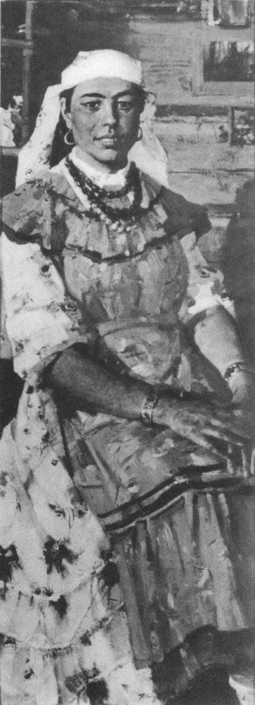 X. Якупов. Портрет М. Галиуллиной — знатной свинарки колхоза имени М. Вахитова. Масло. 1961.