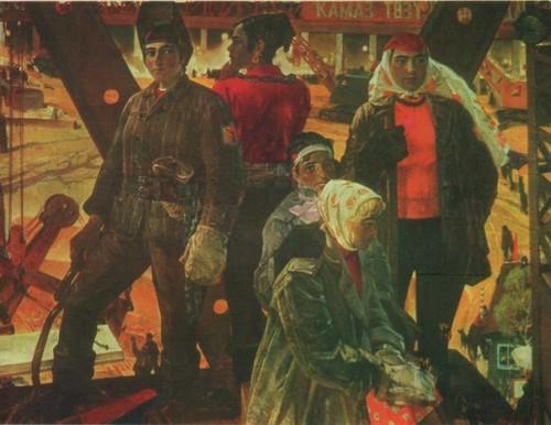 X. Якупов. Челнинские красавицы Масло. 1975.