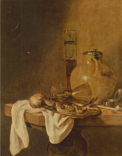 Абрахам ван Бейрен Завтрак 1620 — 1690. Холст, масло. 0,74 X 0,60