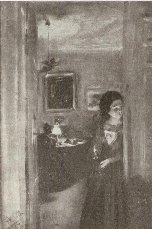 Адольф Менцель. Девушка со свечой