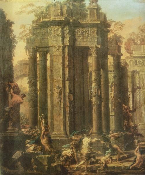 Алессандро Маньяско Вакханалия 1667—1749. Холст, масло. 1,12 х 1,76