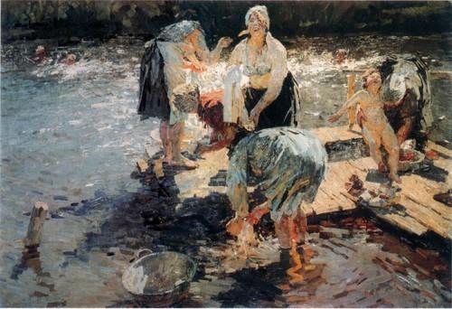 А. и С. Ткачевы . Прачки (Летом) . 1955-1957 Киевский музей русского искусства