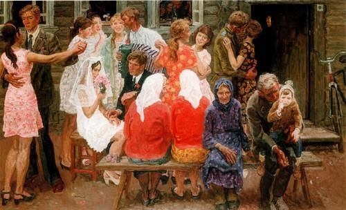 А. и С. Ткачевы . Свадьба в Новых Катчищах . 1972