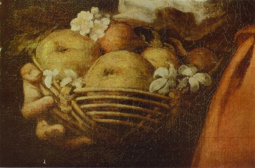 Бартоломе Эстебан Мурильо. Девочка продавщица фруктов. Фрагмент
