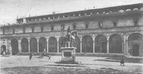 Брунеллески. Капелла Пацци. Флоренция. Фасад. 1430—1443.