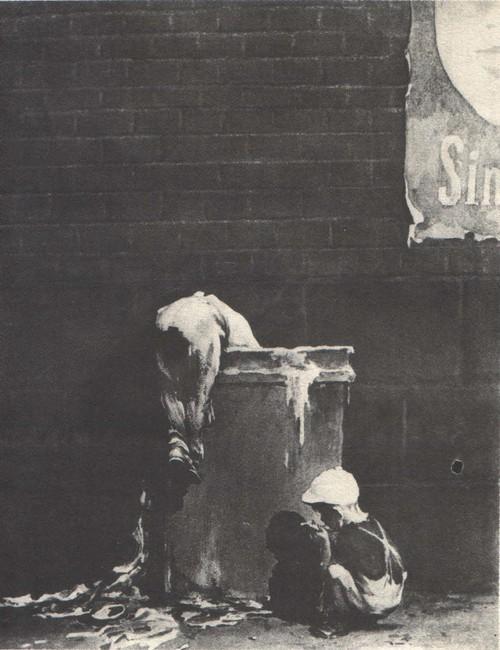 Б. Пророков. Дети большого города. Из серии «Горький об Америке». Бумага, тушь. 1949.