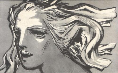 Б. Пророков. Песнь свободы. Из серии «Зарубежная хроника». Картон, темпера. 1968.