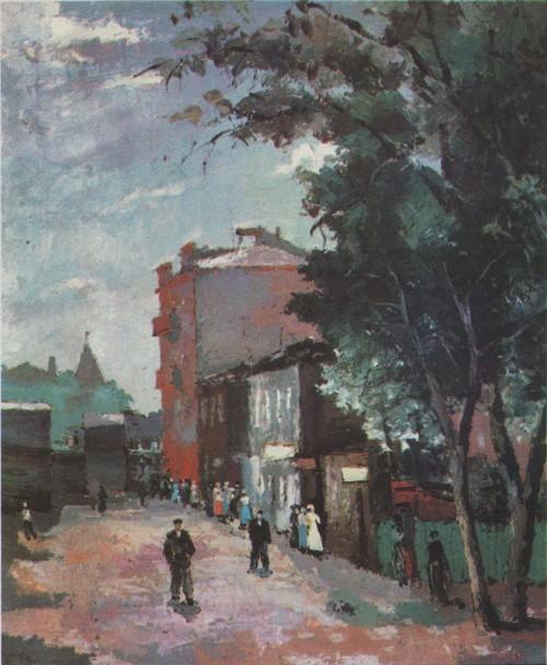 Б. Рыбченков. Бутырская заставка. Масло. 1934