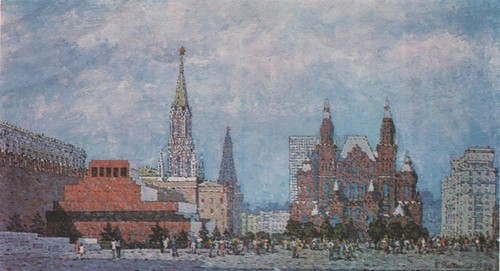 Б. Рыбченков. На Красной площади. Масло. 1980.