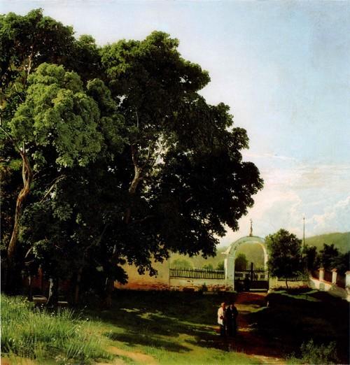 В церковной ограде. Старое кладбище Валаамского монастыря. 1867