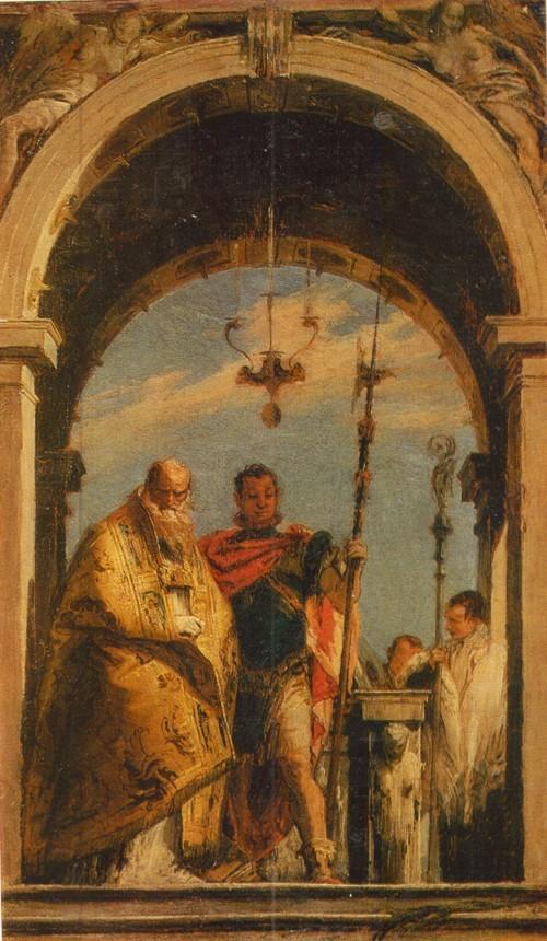 Джованни Баттиста Тьеполо Двое святых 1696—1770. Холст, масло. 0,61 х 0,36