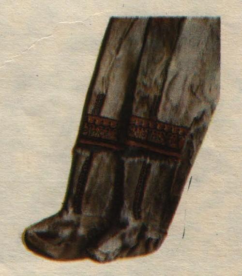 Долганские торбаса. Камус, сукно, бисер, вышивка. Конец XIX века.