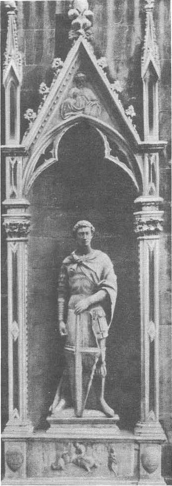 Донателло. Статуя св. Георгия. Церковь Ор сан Микеле. Флоренция. Мрамор. 1416.