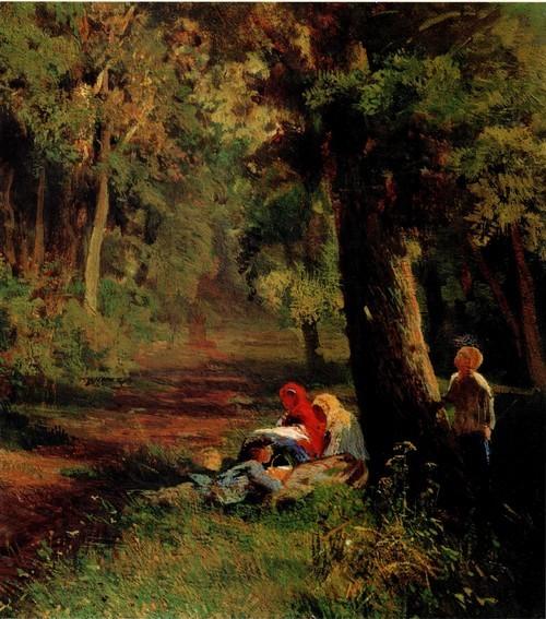 Дорога в лесу. 1869