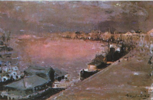 Д. Щербиновский. Нева. Утро. Масло. 1892—1893.
