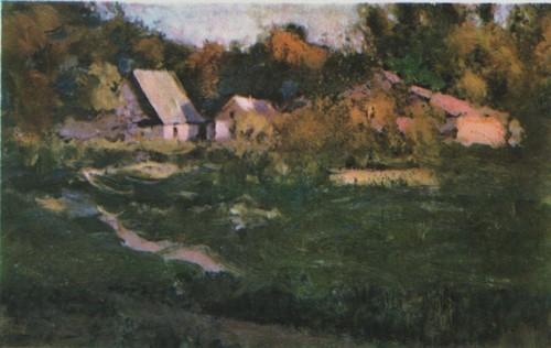 Д. Щербиновский. Хутор. Масло. 1910-е годы